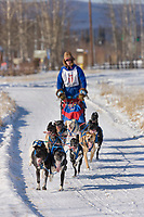 Arleigh Reynolds races in the 2008 Open North American Championship sled dog race, third heat, March 16, 2008.