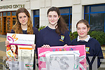 Students from Pobailscoil Inbhear Scéine, Kenmare, pictured at the Young Entrepreneur Business Boot Camp in the Brandon Hotel, Tralee on Friday, from left: Mayra Kerssens, Tara Viscardi and Ciara Whitling.