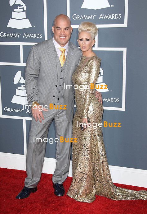 Tito Ortiz, Jenna Jameson   at the 55th Grammy Awards-Arrivals  held at the Los Angeles Convention Center.