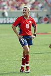 6 June 2004: Aly Wagner during the second half. The United States tied Japan 1-1 at Papa John's Cardinal Stadium in Louisville, KY in an international friendly soccer game..