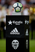 1st October 2017, Mestalla, Valencia, Spain; La Liga football, Valencia CF versus Athletic Bilbao; Official ball of La Liga prior to the game