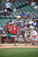 Andrew Papantonis (4) of Delbarton High School in Glen Gardner, New Jersey during the Under Armour All-American Game presented by Baseball Factory on July 23, 2016 at Wrigley Field in Chicago, Illinois.  (Mike Janes/Four Seam Images)