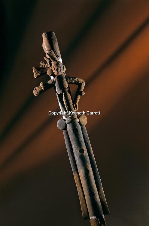 Ceramic flute, Artifact from noble's house in Aguateca, Maya capital AD 700 -800, Guatemala