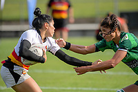 The Women's Cup Final between Manawatu and Wakiato on day two of the 2018 Bayleys National Sevens at Rotorua International Stadium in Rotorua, New Zealand on Sunday, 14 January 2018. Photo: Dave Lintott / lintottphoto.co.nz