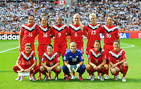 Starting Eleven of Team Canada during the FIFA Women's World Cup at the FIFA Stadium in Berlin, Germany on June 26th, 2011.