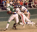 .New York Giants Carl Lockhart (43) during a game against the New York Jets on November 1, 1970 at Shea Stadium in Flushing, New York. New York Giants beat the New York Jets  22-10. Carl Lockhart played for 11 years all with the New York Giants and was a 2-time Pro Bowler.(SportPics)