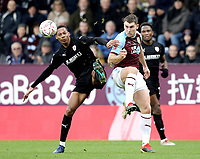 Burnley's Sam Vokes battles with Barnsley's Ethan Pinnock<br /> <br /> Photographer Rich Linley/CameraSport<br /> <br /> Emirates FA Cup Third Round - Burnley v Barnsley - Saturday 5th January 2019 - Turf Moor - Burnley<br />  <br /> World Copyright &copy; 2019 CameraSport. All rights reserved. 43 Linden Ave. Countesthorpe. Leicester. England. LE8 5PG - Tel: +44 (0) 116 277 4147 - admin@camerasport.com - www.camerasport.com