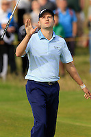 Russell Knox (SCO) misses his par putt on the 14th green during Thursday's Round 1 of the 145th Open Championship held at Royal Troon Golf Club, Troon, Ayreshire, Scotland. 14th July 2016.<br /> Picture: Eoin Clarke | Golffile<br /> <br /> <br /> All photos usage must carry mandatory copyright credit (&copy; Golffile | Eoin Clarke)