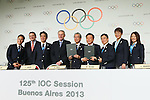 Photo Session, <br /> SEPTEMBER 7, 2013 : <br /> A press conference after Tokyo was announced as the winning city bid for the 2020 Summer Olympic Games at the 125th International Olympic Committee (IOC) session in Buenos Aires Argentina, on Saturday September 7, 2013. (Photo by YUTAKA/AFLO SPORT) [1040]