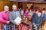 Jack Shanahan and Cllr Bobby O'Connell at the public meeting for cleaning the grave yards in castleisland held in the River Island Hotel on Tuesday night
