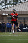 2013 March 02: Jay Carlson #32 of the Maryland Terrapins during a game against the Duke Blue Devils at Koskinen Stadium in Durham, NC.  Maryland won 16-7.