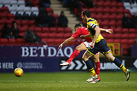 Ahmed Kashi scores Charlton Athletic's first goal during Charlton Athletic vs Oxford United, Sky Bet EFL League 1 Football at The Valley on 3rd February 2018