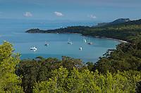 Europe/Provence-Alpes-Côte d'Azur/83/Var/Iles d'Hyères/Ile de Porquerolles:  Depuis le Fort Sainte Agathe, vue sur les plages et la Pointe du Lequin