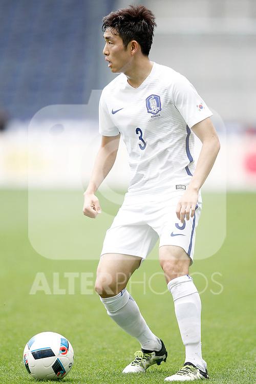 South Korea's Sukyoung Yun during friendly match. June 1,2016.(ALTERPHOTOS/Acero)