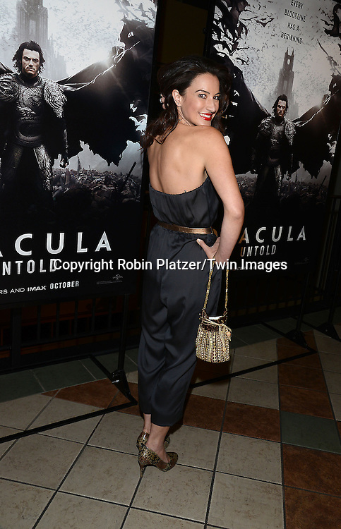 America Olivo attends the Special Screening of &quot;Dracula Untold&quot;  on October 6, 2014 at The ABC Loews 34th Street Imax Theatre In New York City.<br /> <br /> photo by Robin Platzer/Twin Images<br />  <br /> phone number 212-935-0770