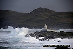 11-11-2010; Massive waves hurl at Valentia Lighthouse in County Kerry on Thursday.<br /> Picture by Dn MacMonagle