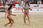 31.05.2015, Moskau, Vodny Stadion<br /> Moskau Grand Slam, Main Draw / Finale<br /> <br /> Jubel Talita Antunes (#2 BRA), Larissa Franca (#1 BRA) nach Sieg<br /> <br />   Foto © nordphoto / Kurth