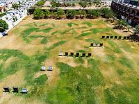 Vista aerea de Complejo deportivo de la Comisi&oacute;n Estatal de Deporte, CODESON en Hermosillo, Sonora....<br /> <br /> Campo De Tiro Con Arco. Sequ&iacute;a. Pasto. Pasto seco. C&eacute;sped Verde. Contraste. Tiro al blanco<br /> <br /> <br /> Photo: (NortePhoto / LuisGutierrez)<br /> <br /> ...<br /> keywords: