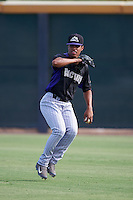 Colorado Rockies Daniel Suero (36) during practice before an instructional league game against the SK Wyverns on October 10, 2015 at the Salt River Fields at Talking Stick in Scottsdale, Arizona.  (Mike Janes/Four Seam Images)