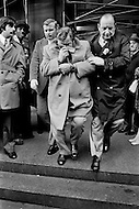 Brooklyn, New York, NY. 29 Nov 1972. The Mafia Godfather of New York, Carmine Tramunti, 62 years old, being arrested. He has been indicted by the Judge Eugene Gold at the Brooklyn Supreme Court.