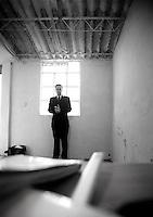 Carlos Loret de Mola co-producer of De Panzaso, a documentary film criticizing Mexico's education system. La Narvarte, Mexico DF.