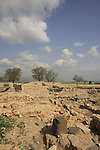 Israel, Upper Galilee. Tel Hazor, a World Heritage site