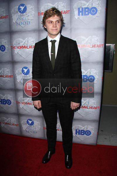 Evan Peters<br /> at the HBO Premiere of &quot;The Normal Heart,&quot; WGA Theater, Beverly Hills, CA 05-19-14<br /> David Edwards/DailyCeleb.com 818-249-4998