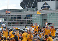 31 Aug 2008: Colorado fans display their support while tailgating prior to a game against Colorado State. The Colorado Buffaloes defeated the Colorado State Rams 38-17 at Invesco Field at Mile High in Denver, Colorado. FOR EDITORIAL USE ONLY