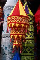 Indien, Orissa, Pipli bei Puri, Verkauf von Tempeldekorationen