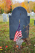Kinsman Cemetery in Easton, New Hampshire USA during the autumn months