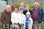 Pictured at the rail line walk from St. Brendans Church, Tralee on Sunday from left: Tom Moloney, Lily Moloney, Ciara Elton, David Elton, Elizabeth Elton, Shane Elton and Johnny Kelliher..