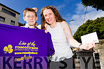"Mary Teehan Milton with her son Conor who won the ""Golden Ticket"" in the Kerry's Eye Rose of Tralee Competition."