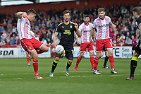Alex Revell of Stevenage shoots during Stevenage vs Cambridge United, Sky Bet EFL League 2 Football at the Lamex Stadium on 14th April 2018