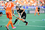 The Hague, Netherlands, June 10: Steven Edwards #31 of New Zealand dribbles the ball during the field hockey group match (Men - Group B) between New Zealand and The Netherlands on June 10, 2014 during the World Cup 2014 at Kyocera Stadium in The Hague, Netherlands. Final score 1-1 (0-1) (Photo by Dirk Markgraf / www.265-images.com) *** Local caption ***