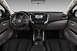 Stock photo of straight dashboard view of a 2018 Fiat Fullback Cross Techno 4 Door Pick Up