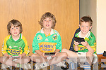 COUSINS: Cousins of Brendan Griffin who had more interest in their ninto's than the what was going on around them l-r: Cathal and Michea?l Griffin aqnd james O'Dowd (Keel)......