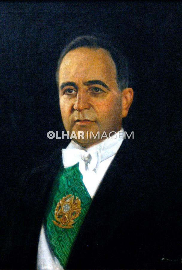 Retrato presidencial de Getúlio Vargas. Museu da República, Palácio do Catete. RJ. 2006. Foto de Luciana Whitaker.