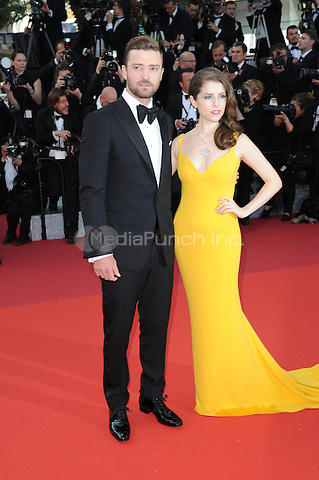 Anna Kendrick and Justin Timberlake  at &quot;Cafe Society&quot; &amp; Opening Gala arrivals - The 69th Annual Cannes Film Festival, France on May 11, 2016.<br /> CAP/LAF<br /> &copy;Lafitte/Capital Pictures /MediaPunch ***NORTH AND SOUTH AMERICA SALES ONLY***