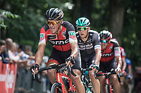 Greg Van Avermaet (BEL/BMC) up the Kapelmuur.  <br /> <br /> Binckbank Tour 2017 (UCI World Tour)<br /> Stage 7: Essen (BE) &gt; Geraardsbergen (BE) 191km