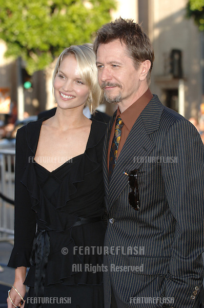 Actor GARY OLDMAN & girlfriend ELSA at the Los Angeles premiere of her new movie Batman Begins..June 6, 2005 Los Angeles, CA..© 2005 Paul Smith / Featureflash
