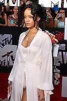 LOS ANGELES, CA, USA - APRIL 13: Rihanna at the 2014 MTV Movie Awards held at Nokia Theatre L.A. Live on April 13, 2014 in Los Angeles, California, United States. (Photo by Xavier Collin/Celebrity Monitor)