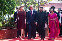 King Philippe & Queen Mathilde of Belgium meet with the Governor while on a State Visit to India