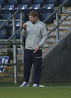 St Mirren coach David Longwell issues instructions at the Falkirk v St Mirren  Scottish Football Association Youth Cup 4th Round match played at the Falkirk Stadium, Falkirk on 16.12.12.