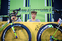 Peter Sagan (SVK/Cannondale) at the pr&eacute;-race press conference in Leeds <br /> <br /> Tour de France 2014
