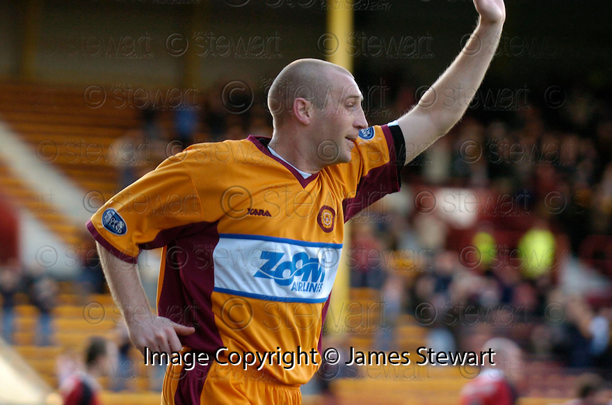 01/04/2006         Copyright Pic: James Stewart.File Name : sct_jspa03_motherwell_v_livingston.JIM HAMILTON CELEBRATES AFTER HE SCORES MOTHERWELL'S FIRST...Payments to :.James Stewart Photo Agency 19 Carronlea Drive, Falkirk. FK2 8DN      Vat Reg No. 607 6932 25.Office     : +44 (0)1324 570906     .Mobile   : +44 (0)7721 416997.Fax         : +44 (0)1324 570906.E-mail  :  jim@jspa.co.uk.If you require further information then contact Jim Stewart on any of the numbers above.........