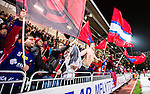 Stockholm 2014-11-14 Bandy Elitserien Hammarby IF - Edsbyns IF :  <br /> Edsbyns supportrar jublar under matchen mellan Hammarby IF och Edsbyns IF <br /> (Foto: Kenta J&ouml;nsson) Nyckelord:  Elitserien Bandy Zinkensdamms IP Zinkensdamm Zinken Hammarby Bajen HIF HeIF Edsbyn EIF Byn supporter fans publik supporters jubel gl&auml;dje lycka glad happy