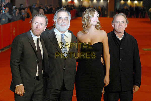"FRANCIS FORD COPPOLA, BRUNO CANZ, ALEXANDRA MARIA LARA & TIM ROTH.Attends the ""Youth Without Youth"" premiere during day 3 of the 2nd Rome Film Festival, Rome, Italy, .October 20, 2007..half length black strapless dress.CAP/OME.©Botteghi/Omega/Capital Pictures."