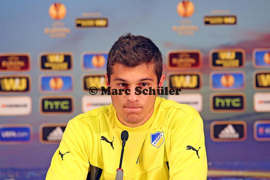 Kostakis Artymatas (Nikosia) - APOEL Nikosia Europa League Pressekonferenz
