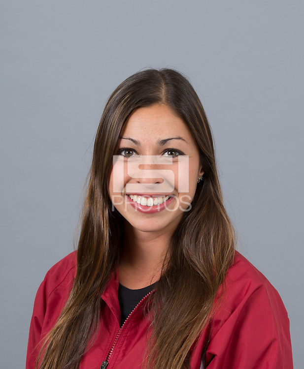 STANFORD, CA - SEPTEMBER 24, 2014--Rebecca Mehra, with Stanford University Cross Country Team