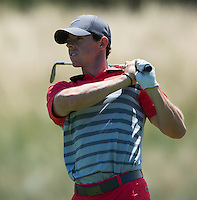Rory McIlroy of Northern Island in action during his fourth round at the Emirates Australian Open Golf